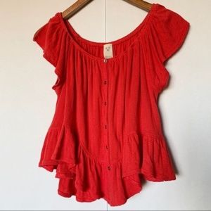 Free People buttoned julep top